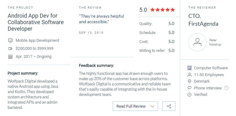 UK top 10 development companies user reviews