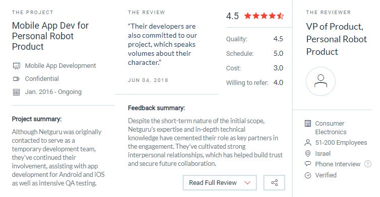 Netguru client reviews