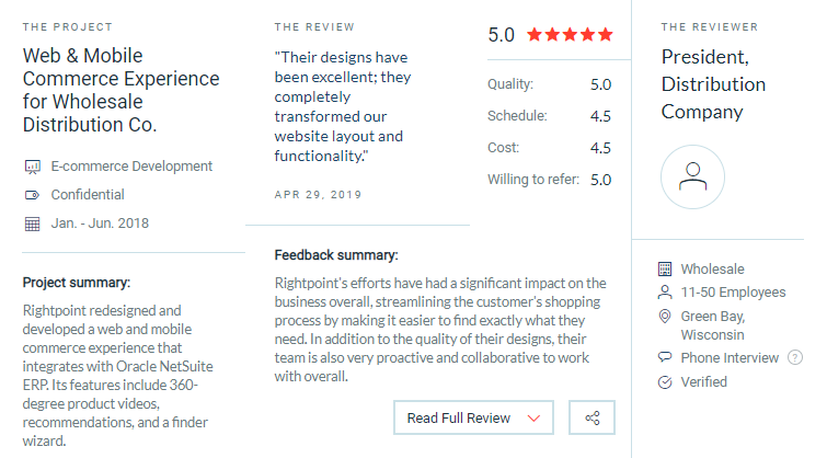 right point client reviews