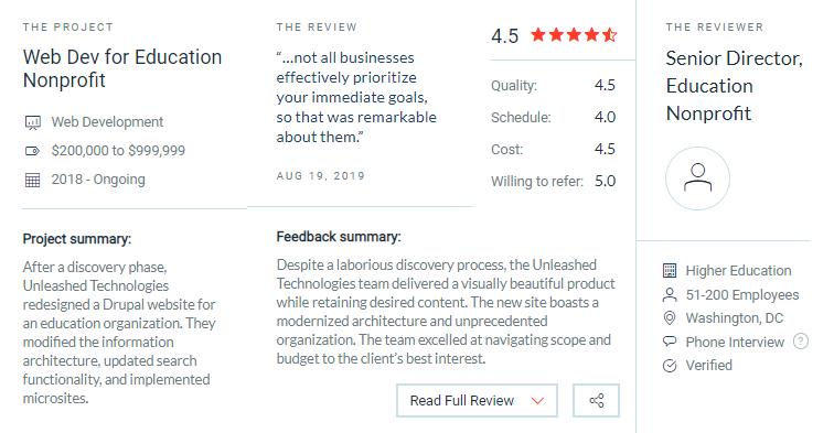 Unleashed Technologies client reviews