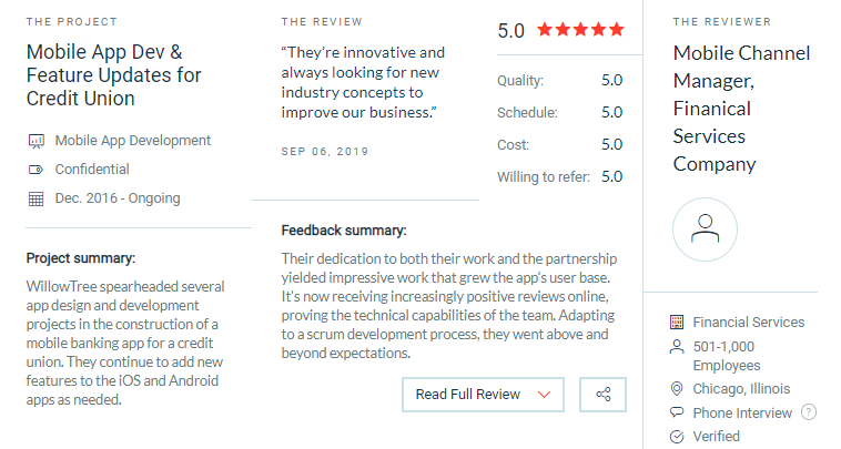willowtree client reviews