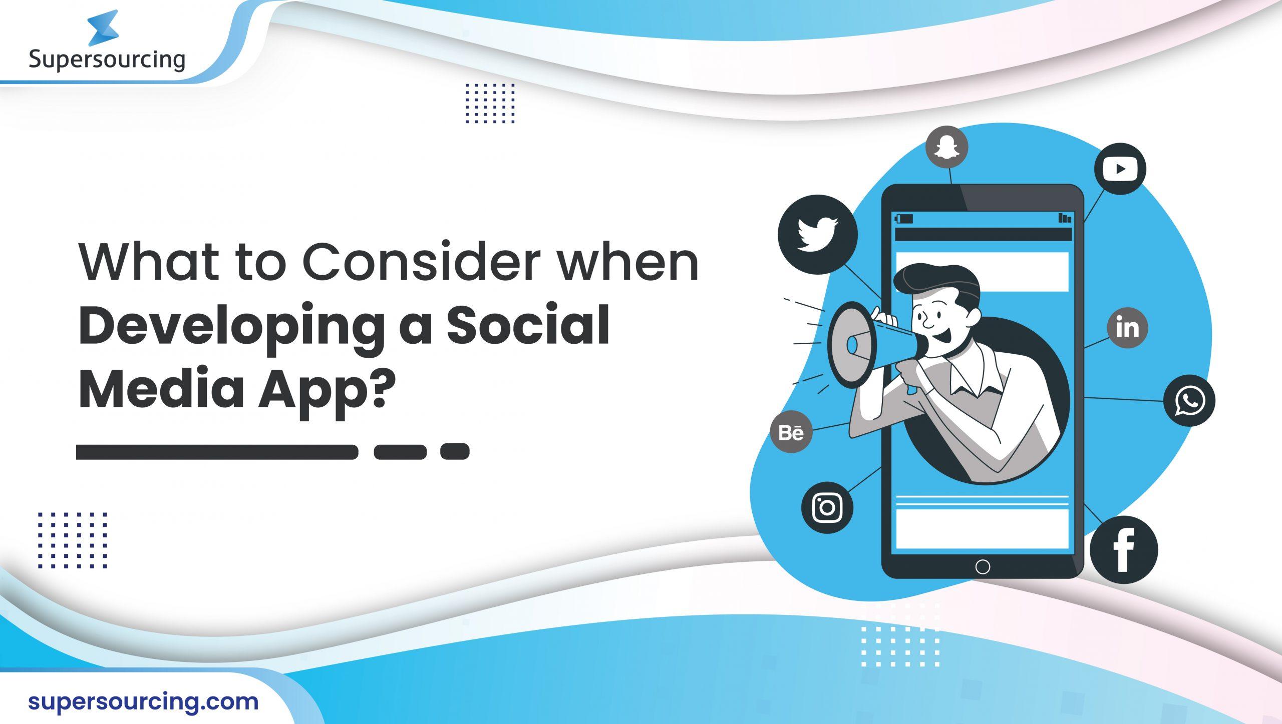 developing a social media app