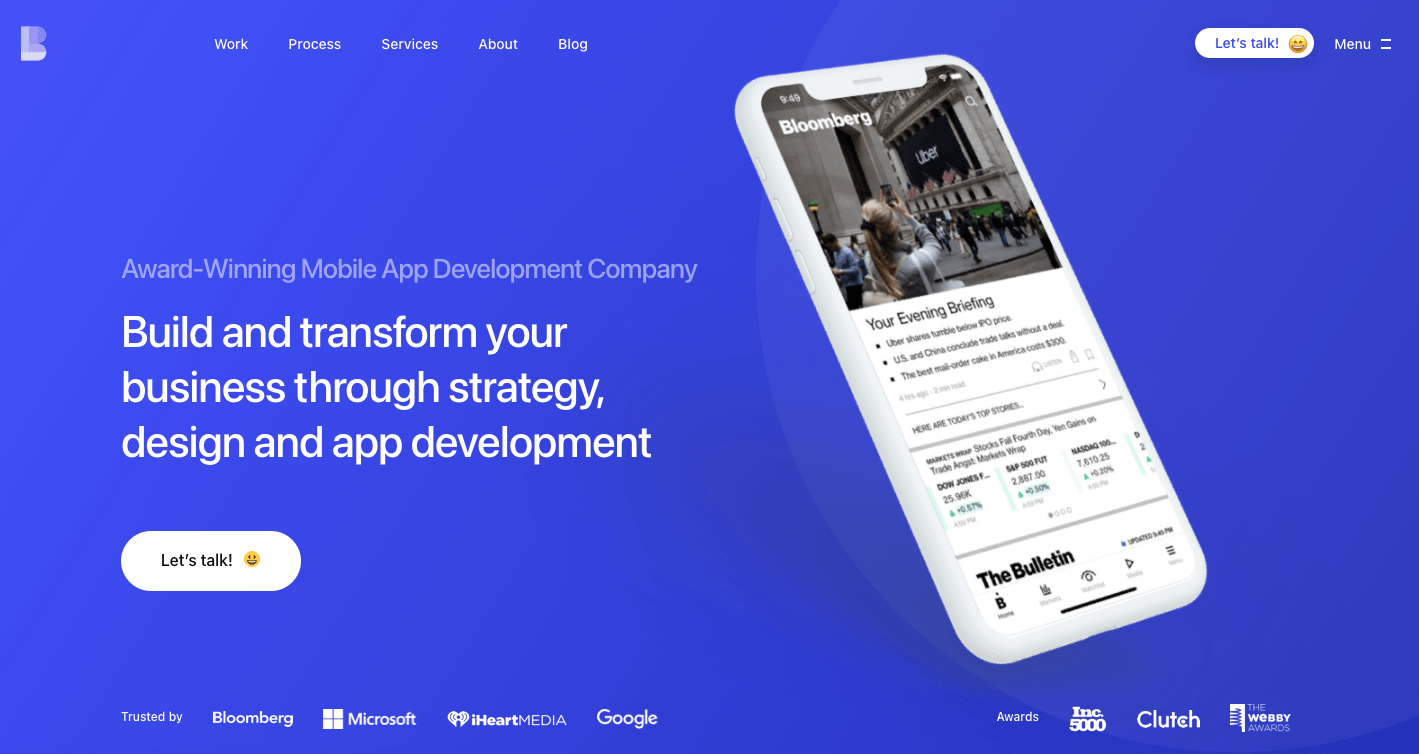 Blue Label Labs mobile app development company